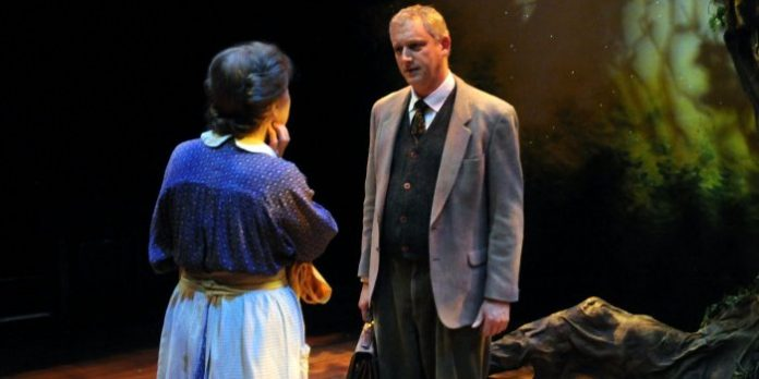 Erla Faye Forsyth and Ian Farthing in the Pacific Theatre production of Tolkien. Photo by Damon Calderwood.