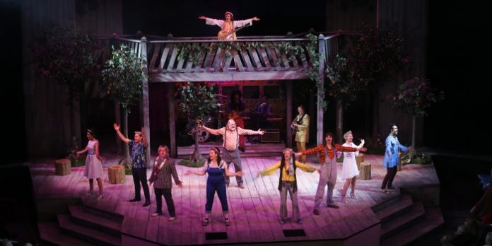 The Company of the Bard on the Beach Shakespeare Festival production of As You Like It. Photo by Tim Matheson.