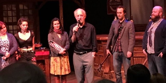 The Arts Club Theatre Company's outgoing artistic managing director, Bill Millerd, joins the cast of Once on stage.