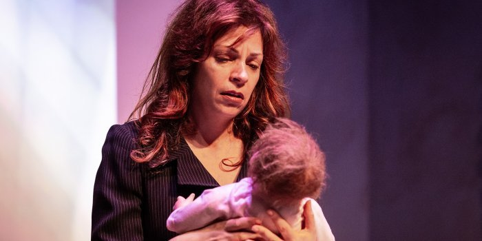Lori Triolo as Emily in Zayd Dohrn's provocative thriller, Reborning. Photo by Lachlan McAdam.