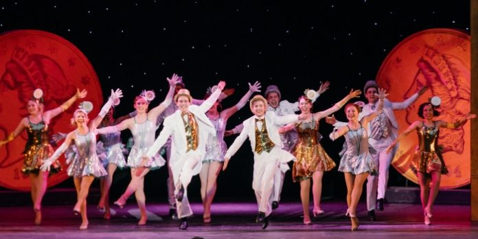 Members of the cast of the Theatre Under The Stars production of 42nd Street. Photo by Lindsay Elliott.