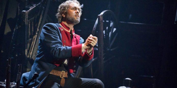 Nick Cartell as Jean Valjean in Les Miserables. Photo by Matthew Murphy.