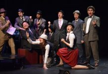 Members of the cast of the Fighting Chance Productions presentation of Guys and Dolls. Photo by Jenn Suratos.