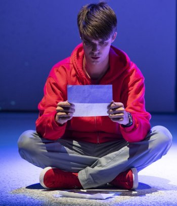 Daniel Doheny as Christopher in The Curious Incident of the Dog in the Night-time. Photo by David Cooper.