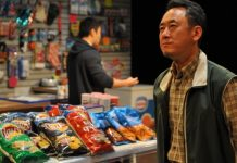 James Yi as Mr Kim in the Pacific Theatre production of Kim's Convenience. Photo by Jalen Laine.