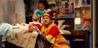 Heidi Damayo and Andrew McNee in the Arts Club Theatre Company production of Mustard. Photo by Mark Halliday.