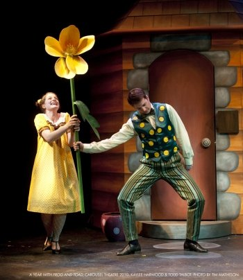 Kaylee Harwood and Todd Talbot in the Carousel Theatre production of A Year with Frog and Toad in 2010. Photo by Tim Matheson.