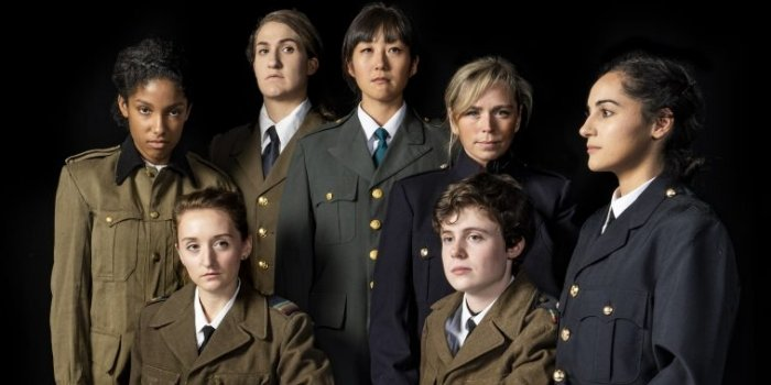 In Three Winters, a troupe of seven millennial actresses play WWII soldiers captured in the Stalag Luft III POW camp.