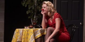 Tess Degenstein as Mimi in the Arts Club Theatre Company presentation of Blind Date.