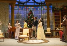 The cast of the Arts Club Theatre Company production of Miss Bennet: Christmas at Pemberley. Photo by David Cooper.