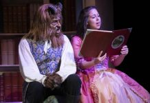 Jonathan Winsby as the Beast and Michelle Bardach as Belle in the Arts Club Theatre Company production of Beauty and the Beast. Photo by David Cooper.
