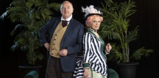 Ric Reid and Nicola Lipman star in the Arts Club Theatre Company production of The Matchmaker. Photo by David Cooper.