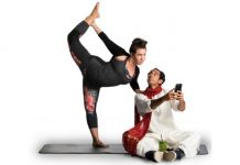 Christine Quintana and Chirag Naik in the Canadian premiere of Dipika Guha's Yoga Play at Richmond's Gateway Theatre. Photo by David Cooper.