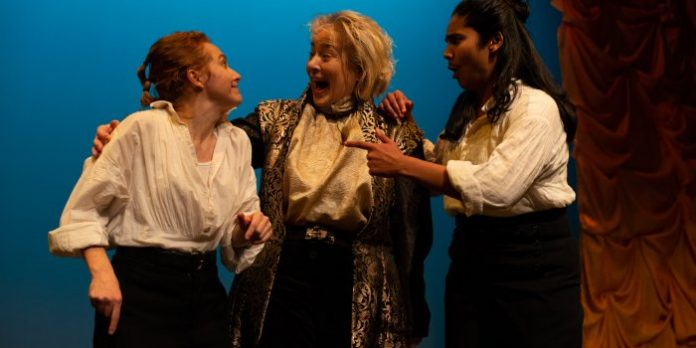 Kayla Deorksen, Barbara Pollard, Adele Noronha in the Classic Chic Productions presentation of Much Ado About Nothing.