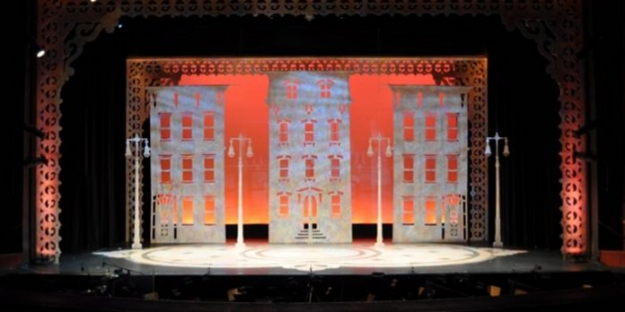 This backdrop from the musical Hello, Dolly! is one of the many backdrops in the Royal City Musical Theatre archive. Photo: Royal City Musical Theatre.