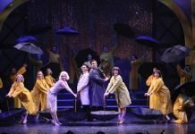 The cast of the Royal City Musical Theatre production of Singin' in the Rain. Photo by Tim Matheson.