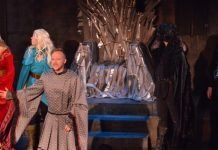 Graeme Duffy and members of the cast of Throne and Games – The Last Laugh.