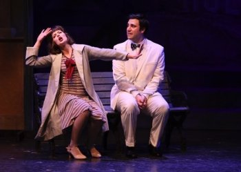 Tessa Trach as Kathy Selden and Andrew Cohen as Don Lockwood in Singin' in the Rain. Photo by Tim Matheson.