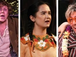 Sweeney Todd: The Demon Barber of Fleet Street, Les Filles du Roi, and As You Like It combined to make this year's Jessie Awards the year of the musical. Photos by (LtoR): Nicol Spinola, Tim Matheson, and Tim Matheson.