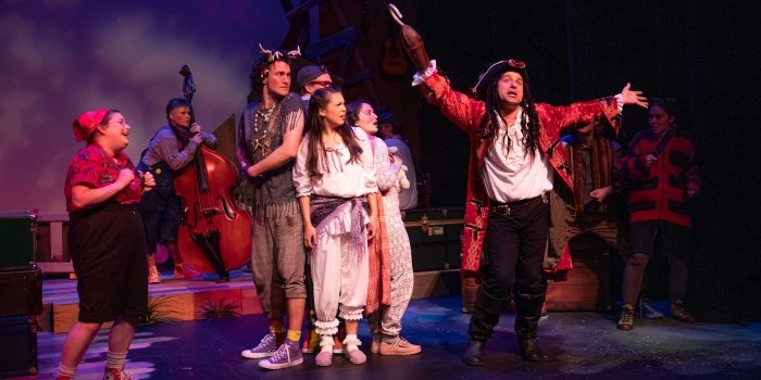Members of the cast of the Carousel Theatre for Young People production of Peter Pan. Photo by Tim Matheson.