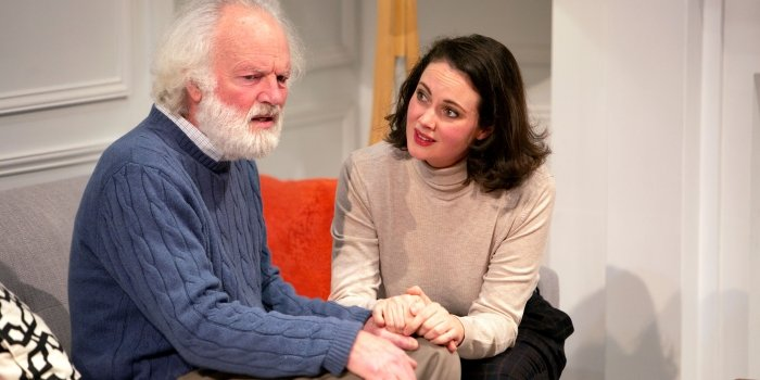 Kevin McNulty and Emma Slipp in The Search Party production of The Father. Photo by Tim Matheson.