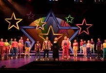 The cast of the Gateway Theatre production of Joseph and the Amazing Technicolor Dreamcoat. Photo by Tim Matheson.
