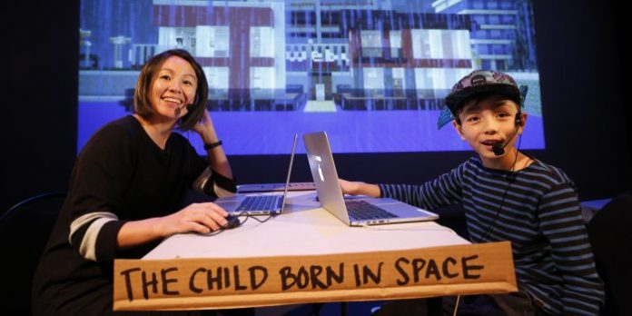 Theatre Replacement co-artistic director Maiko Yamamoto and 12-year-old son Hokuto MacDuff perform together in MINE.