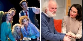 The Arts Club's Noises Off (left photo by David Cooper) and The Search Party's The Father (photo right by Tim Matheson) were among the biggest winners at this year's Jessie Awards.