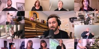 A screenshot featuring a few of the participants in the cover of All You Need Is Love.