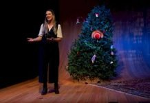 Genevieve Fleming as Mary in the Arts Club production of The Twelve Dates of Christmas. Fleming shares the role with Melissa Oei. Photo by Moonrider Productions.
